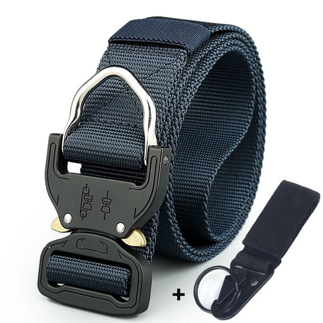 Cobra Buckle Belt with Key Ring