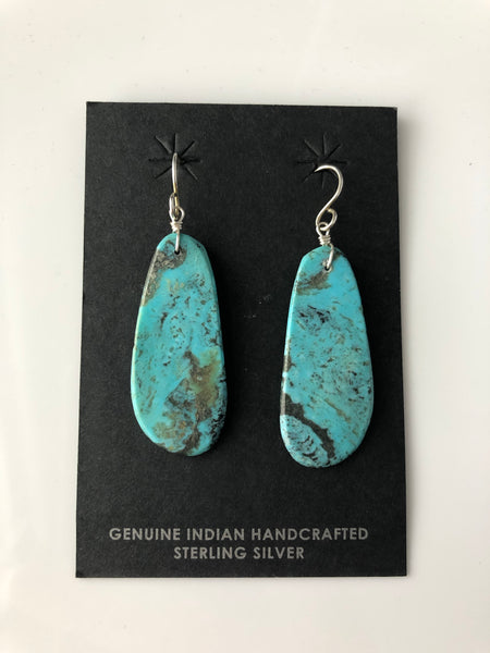 Santo Domingo Turquoise and Sterling Silver Earrings