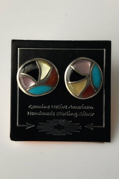 Silver & Turquoise Stud Earrings