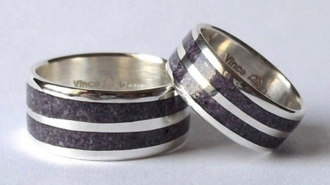 Two Row Silver Wampum Ring
