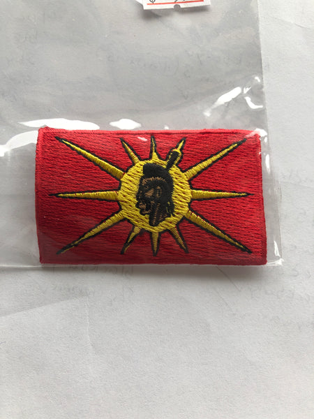 "Small 1.5"" x 2.5"" Mohawk Warrior Patch"
