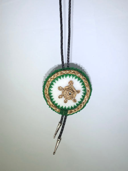 Beaded Bolo Tie with Sweetgrass Trim - Assorted