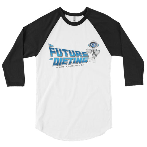 The Future of Dieting 3/4 sleeve raglan shirt