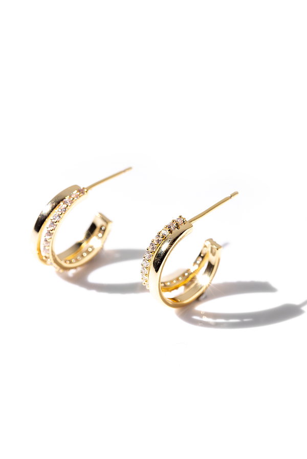 Divinity | Double Hoop Earrings