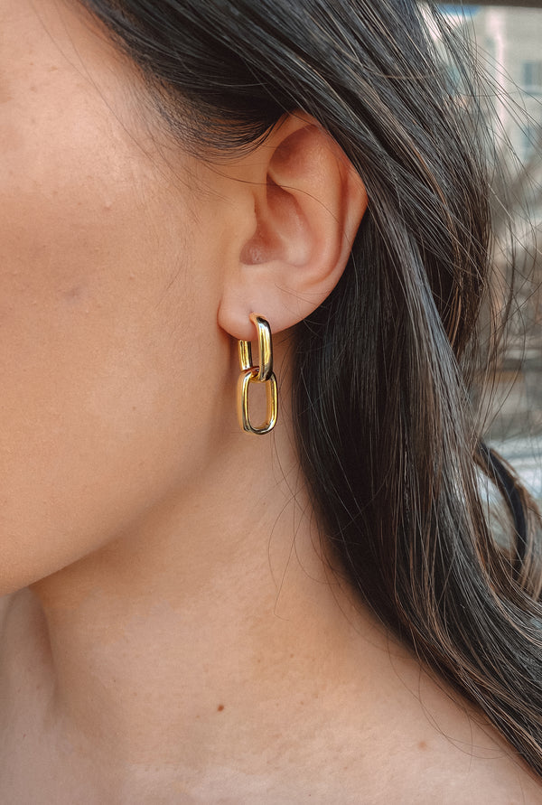 Gemini | Double Link Earrings