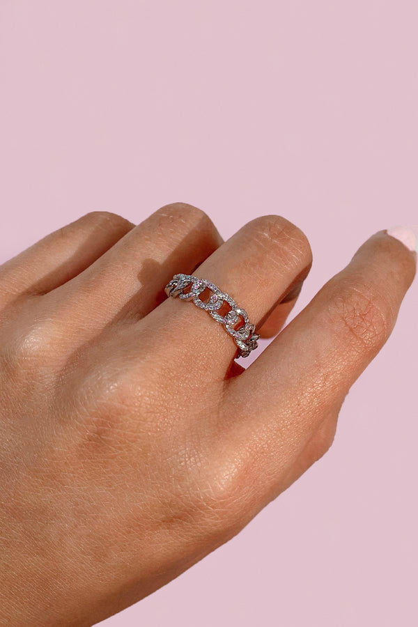Penthouse | Sterling Silver Chain Ring