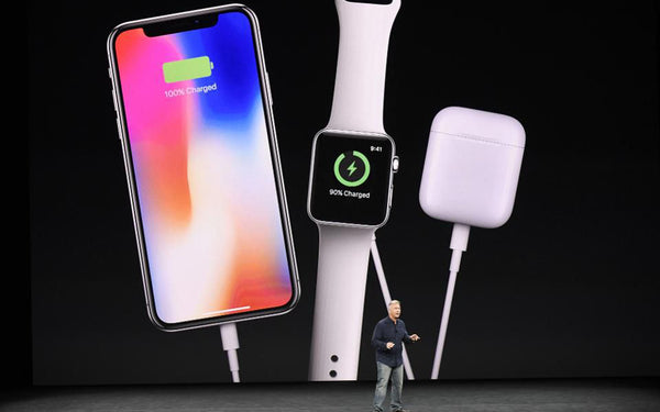 Phil Schiller, senior vice president of worldwide marketing at Apple Inc., speaks about the AirPower charger during an event at the Steve Jobs Theater in Cupertino, California, U.S., in Sep. , 2017.