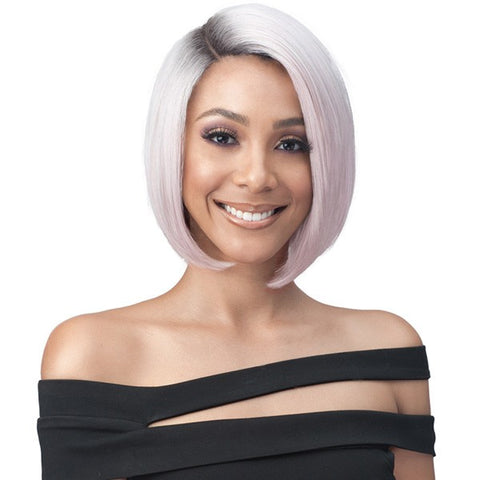 Bobbi Boss Synthetic Swiss Lace Front Illusion Roots MLF347 ASHA