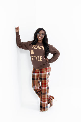 Brown and Nude Logo Sweatshirt