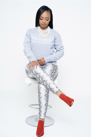 Grey and White  Logo Sweatshirt