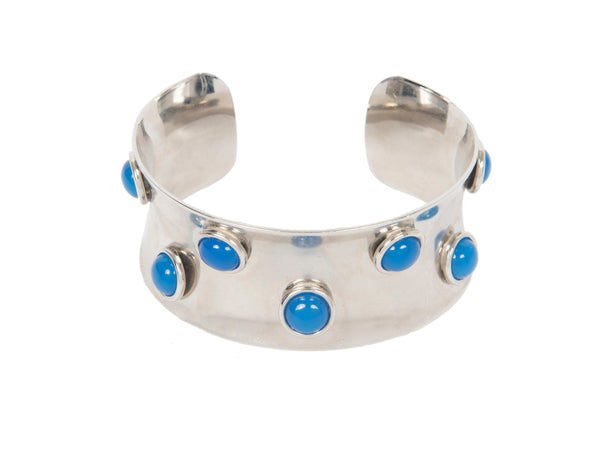 Blue Onyx Thick Persh Cuff