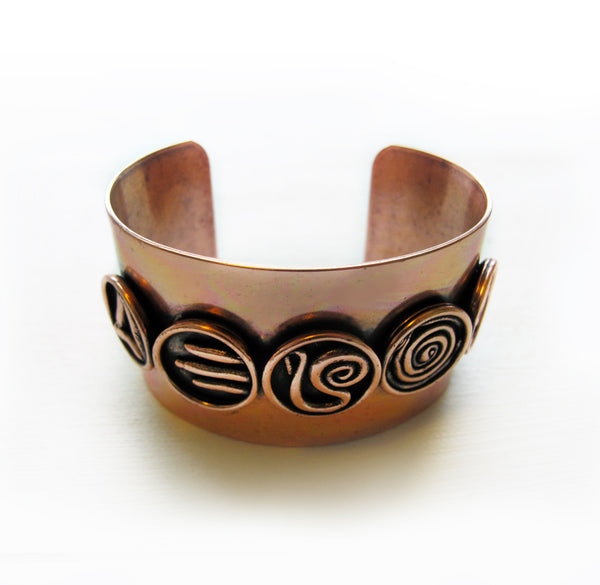 Galaxy Code Cuff || Antique Copper - Featured in Elle Magazine