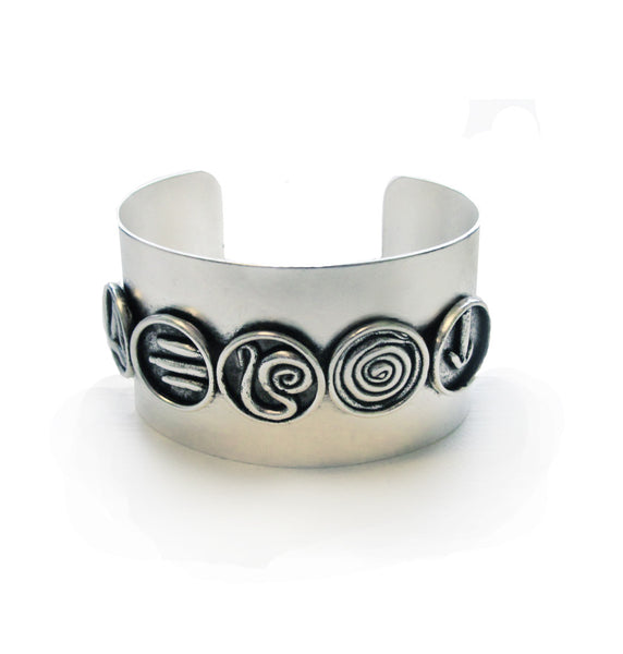 Galaxy Code Cuff || Antique Silver