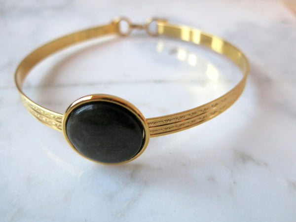 choker, obsidian, gold, necklace, loli choker, designer jewelry