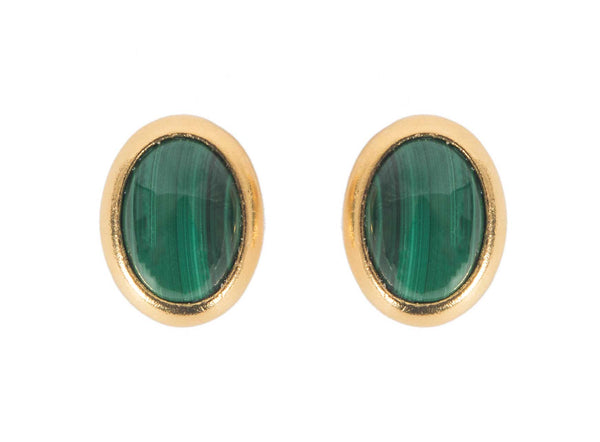 malachite studs, 14k gold plated, studs, small classic earrings, perfect mothers day gift