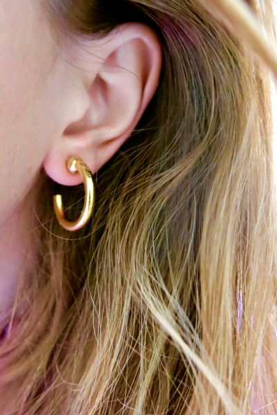 14k gold plated hoops