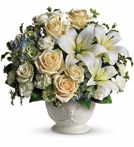 White sympathy flowers created by Winnipeg Florist-Valley Flowers