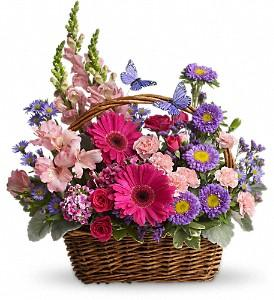 Country Basket Blooms Deluxe