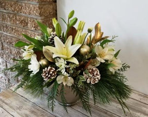 Golden Elegance Christmas Centerpiece SOLD OUT