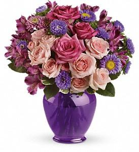 Purple Medley Bouquet with Roses Deluxe