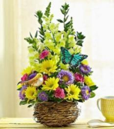 Springtime Basket of Flowers