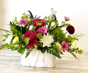 long lasting flowers in purples whites and pinks delivered in winnipeg