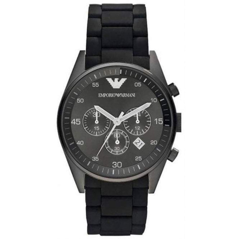 Emporio Armani AR5889 Men's Black Silicon Watch