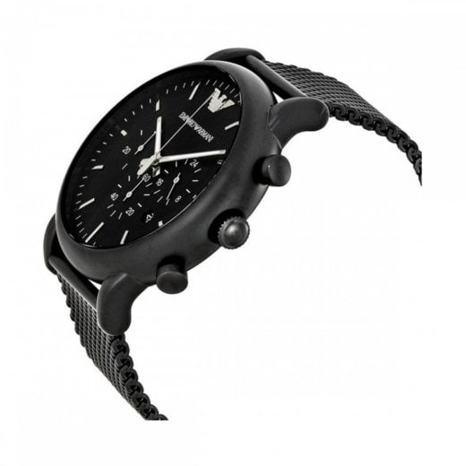 Armani men's watch ar1968 black chronograph watch