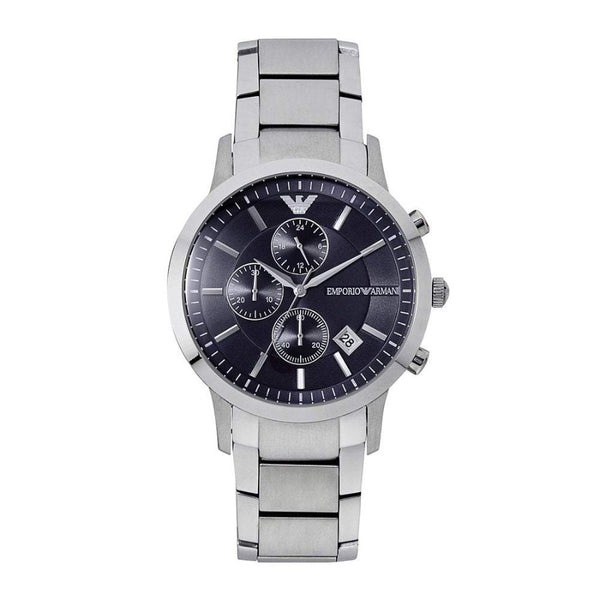 Emporio Armani AR11164 Mens Silver And Blue Watch