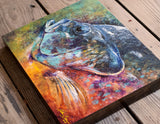 Bluegill Acrylic on Wood Panel