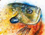 Bluegill Profile Watercolor Painting