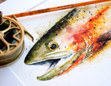 Cutthroat Trout Watercolor