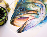 Largemouth Bass Watercolor
