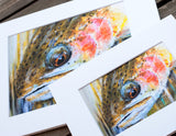 Rainbow Trout Acrylic and Watercolor