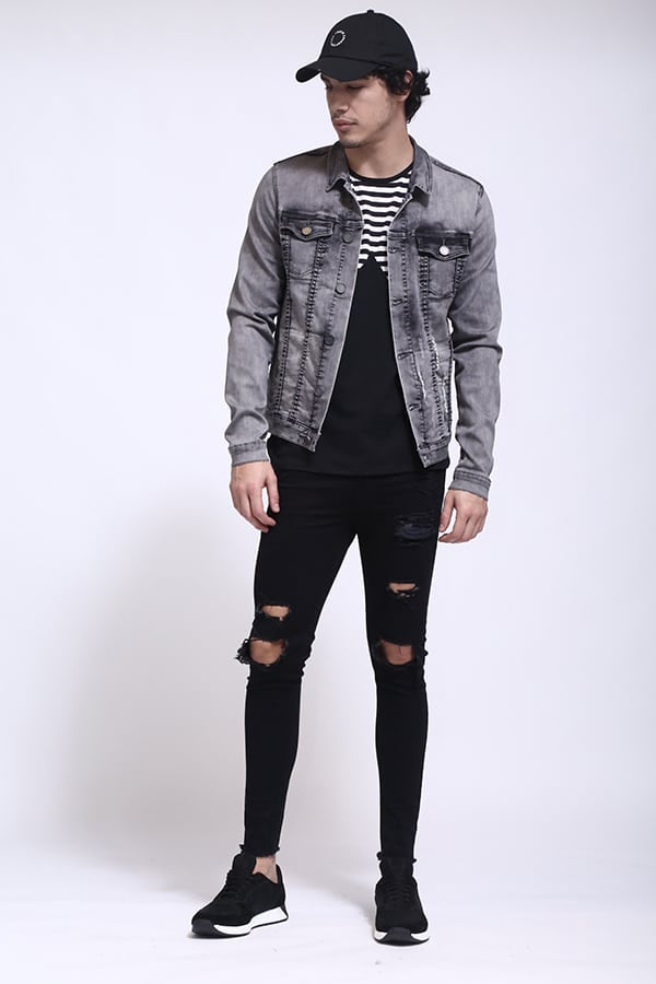 Super Skinny black Destroy II Men´s Jeans