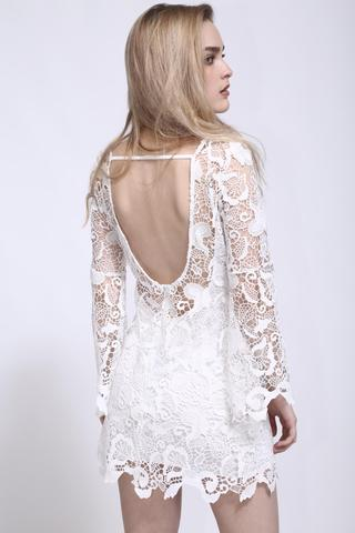 Penelope Lace White Dress