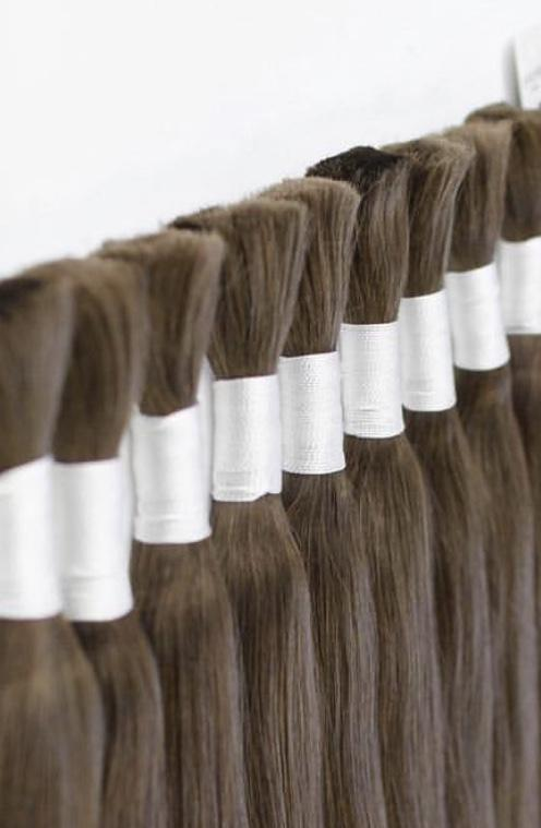 Raw Cut hair Colors BLACK AND DARK BROWN 100 grams - GVA hair