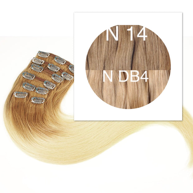 Clips Ombre 14 and DB4 Color GVA hair - GVA hair