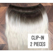 Clips 2 part Colors BLACK AND DARK BROWN - GVA hair