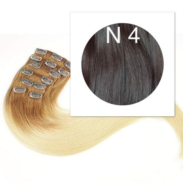Clips 2 part Colors BLACK AND DARK BROWN_Retail price - GVA hair