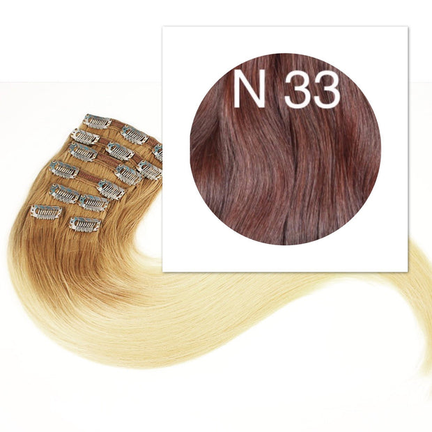 Clips 7 part Colors RED BROWN_Retail price - GVA hair