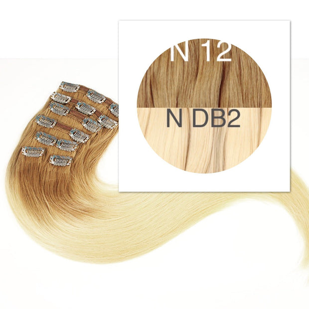 Clips and Ponytail Ambre 12 and DB2 Color GVA hair - GVA hair