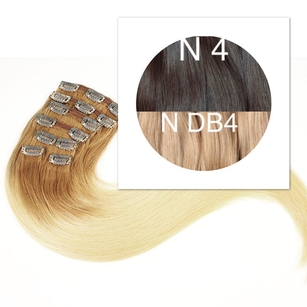 Clips and Ponytail Ambre 4 and DB4 Color GVA hair - GVA hair