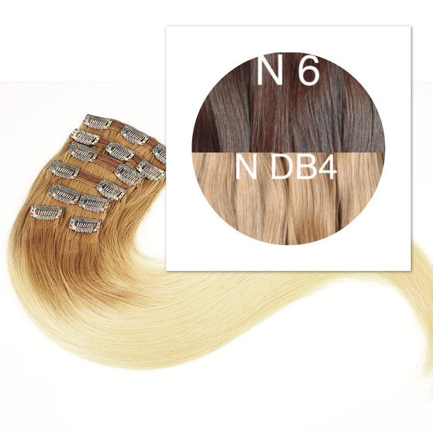 Clips and Ponytail Ambre 6 and DB4 Color GVA hair - GVA hair