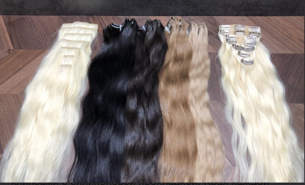 Clips and Ponytail Ambre 8 and 24 Color GVA hair - GVA hair