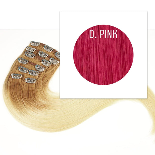 Clips and Ponytail Color D.Pink GVA hair - GVA hair