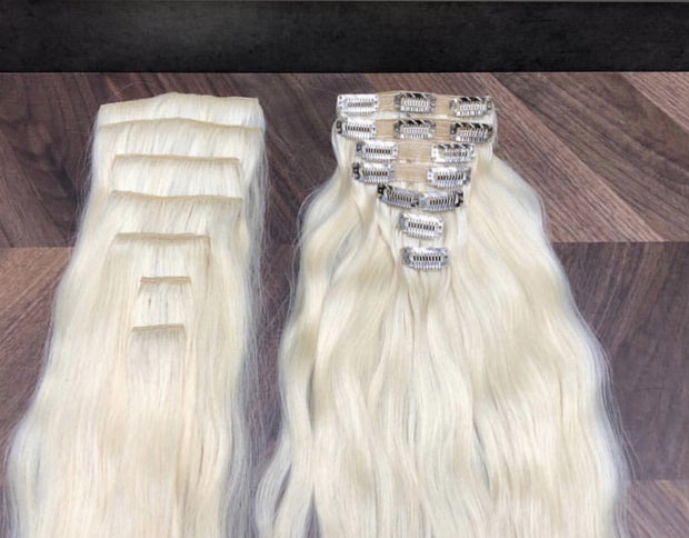 Hair Clips Color _1B/5Q GVA hair_Silver Line - GVA hair