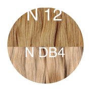 Hair Wefts Hand tied Color _12/DB4 GVA hair_Gold line - GVA hair