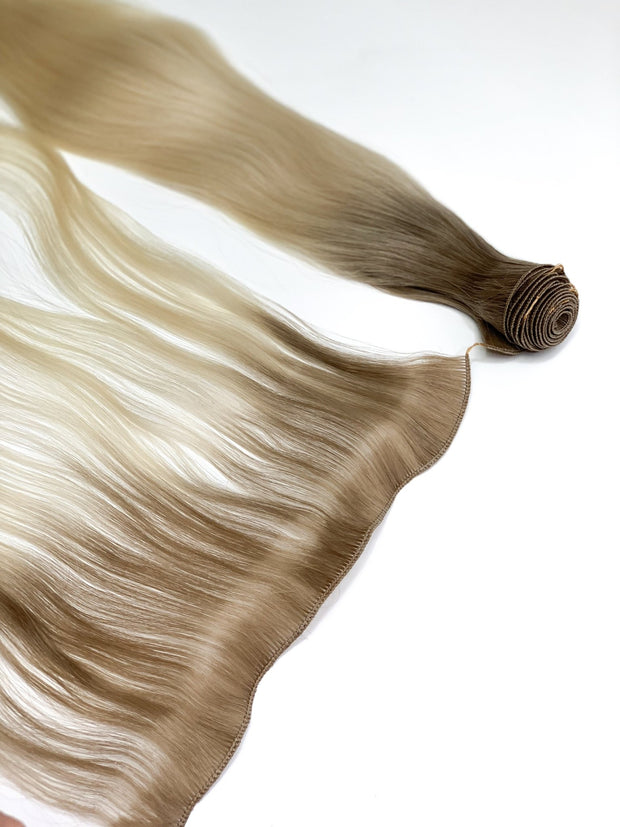 Hair Wefts Hand tied Color 1B GVA hair_Silver line - GVA hair