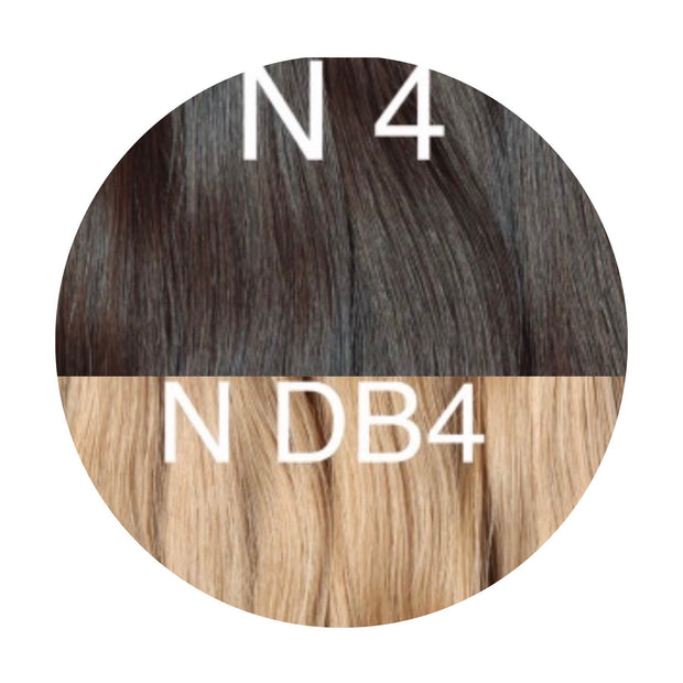 Hair Wefts Hand tied Color _4/DB4 GVA hair_Gold line - GVA hair